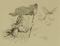 Lot 744-Charles Edmund Brock (1870-1938) BUTTERFLY CATCHING Signed and dated 1892 l.r.