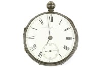 Lot 27-A silver open faced pocket watch