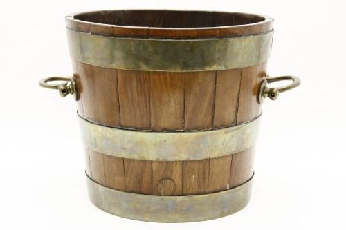 Lot 637-A brass bound bucket