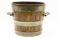 Lot 637-A brass bound bucket