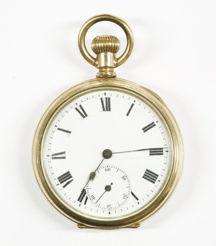Lot 17-A rolled gold open faced pocket watch