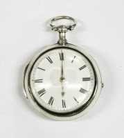 Lot 42-A silver pair case pocket watch