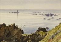 Lot 725-Eliza Ridley Sandys (late 19th century) SEVEN VIEWS OF GUERNSEY; TWO VIEWS OF SARK Each inscribed and dated between April and August 1884 below image each 17 x 24cm