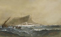 Lot 728-Barlow Moore (1834-1897) 'VENETIA' OFF GIBRALTAR Signed and inscribed