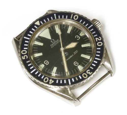 Lot 535 - A gentlemen's stainless steel British military Omega Seamaster 300 'Big Triangle' Royal Navy Divers Automatic wristwatch