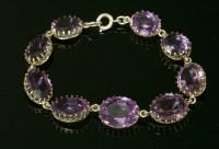 Lot 32-A Victorian graduated amethyst bracelet