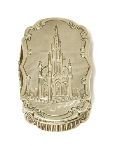 Lot 5-A silver castle top vinaigrette