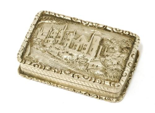 Lot 6-A silver castle top vinaigrette