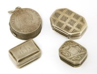 Lot 13-Four small silver vinaigrettes