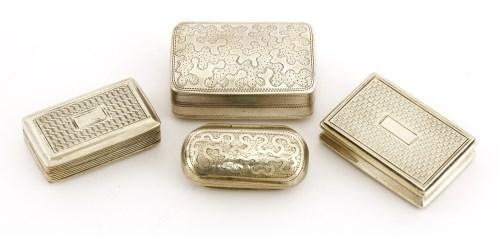 Lot 29 - Four silver vinaigrettes