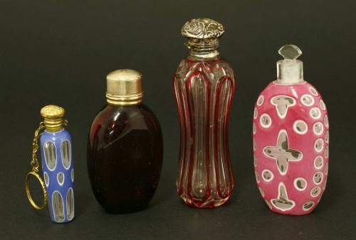 Lot 28 - Four Victorian scent bottles