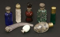 Lot 30 - Eight Victorian scent bottles