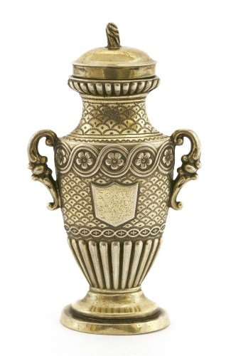 Lot 23-A William lV silver gilt urn-shaped vinaigrette