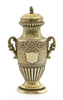 Lot 23 - A William lV silver gilt urn-shaped vinaigrette