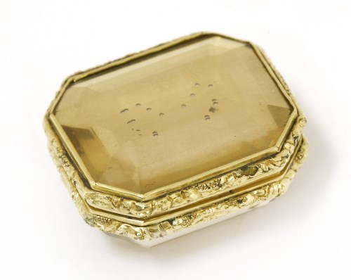 Lot 24-A gold-cased citrine vinaigrette