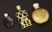Lot 93 - Three 19th century scent bottles