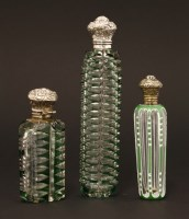 Lot 76 - Three Bohemian clear glass scent bottles