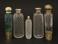 Lot 61 - Two French glass scent bottles