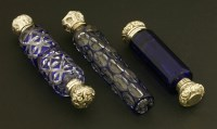 Lot 80 - Two double-ended scent bottles