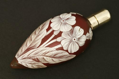 Lot 66-A cameo glass scent bottle