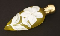 Lot 67-A cameo glass scent bottle