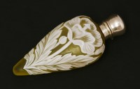 Lot 70 - A cameo glass scent bottle