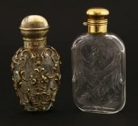 Lot 107 - A Victorian cut-glass scent bottle