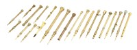 Lot 145 - Twenty-two gilt metal propelling pencils