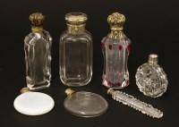Lot 108 - Seven glass scent bottles