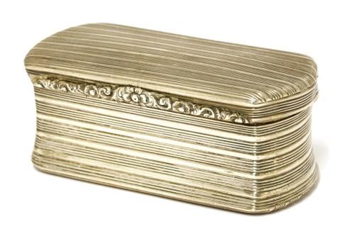 Lot 51-A George III silver box