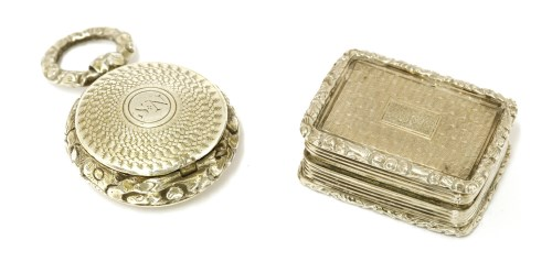 Lot 52-Two silver vinaigrettes