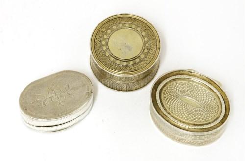 Lot 37 - Three George III silver vinaigrettes