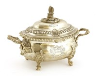 Lot 149 - A George III silver two-handled sauce tureen and cover