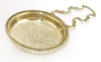 Lot 156 - A George III silver single handle lemon strainer