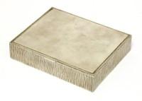 Lot 167 - A silver box