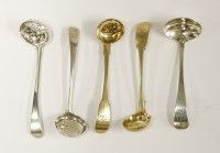 Lot 178 - A George III small Old English pattern spice sifter spoon