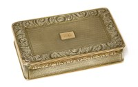 Lot 41 - A George IV silver and gold-edged snuff box