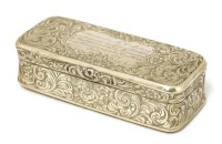 Lot 43 - A Victorian silver snuff box