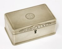 Lot 45-An unusual George IV silver snuff box