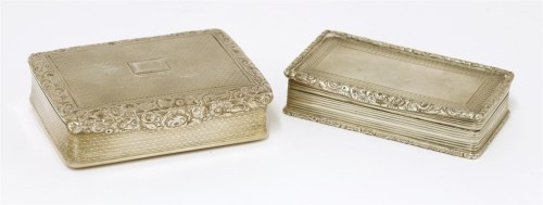 Lot 46-A George IV silver snuff box T Phipps and I Phipps