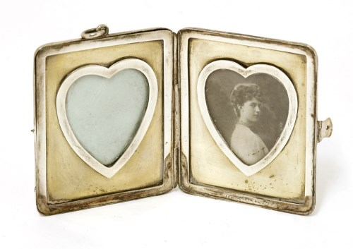 Lot 47-A Victorian silver travelling photograph frame