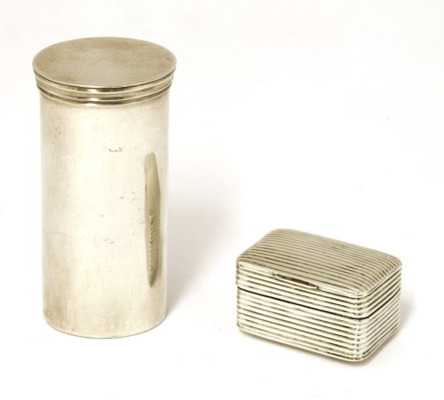Lot 49-An early 19th century Scottish silver nutmeg grater