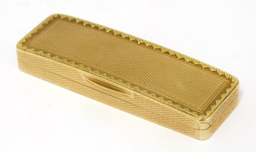 Lot 50-A George III 18ct gold toothpick box