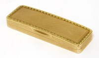 Lot 50 - A George III 18ct gold toothpick box