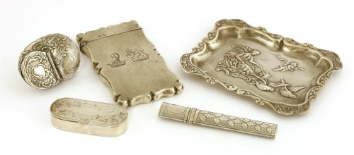 Lot 56-A mixed lot of silver items