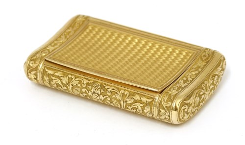 Lot 58-An early 19th century French First Empire gold snuff box