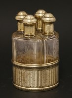 Lot 190 - A late 19th/early 20th century French silver gilt perfume bottle stand