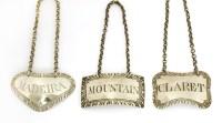 Lot 119 - A George III silver wine label