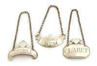 Lot 130 - A George III silver wine label