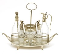 Lot 199 - A George III silver condiment stand